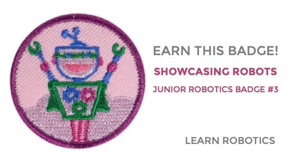 showcasing robots junior girl scouts badge