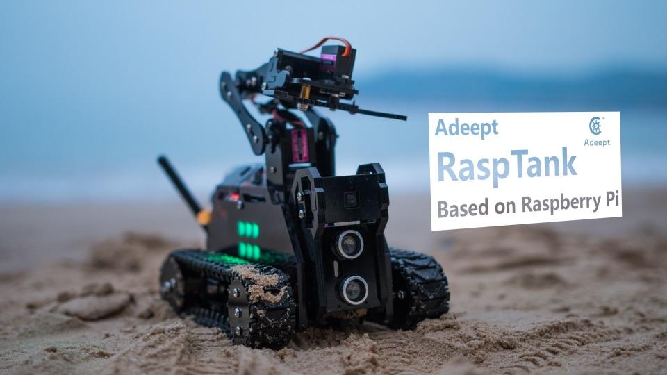 Adeept RaspTank using Raspberry Pi Projects for Kids