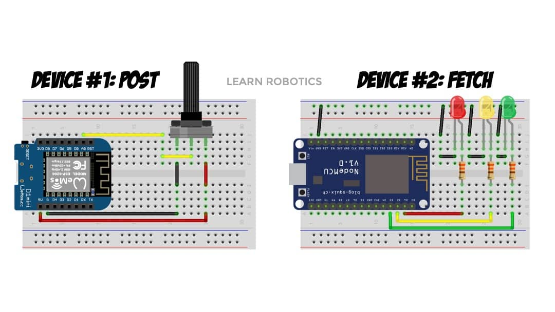 wiring diagrams wemos d1 mini and nodemcu for IoT project