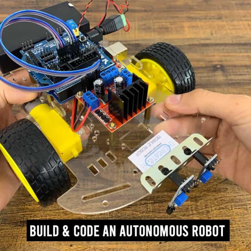 LR Alpha Series build an autonomous robot online course with kit