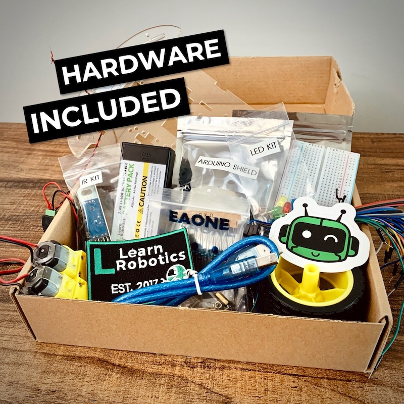 Learn Robotics Online Hardware Kit Best Robotics Curriculum