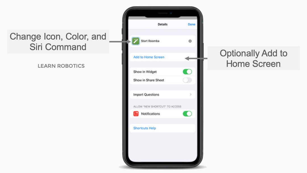 Custom Command and Shortcuts Icon iOS