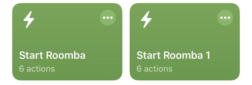 Duplicate Shortcuts in iOS