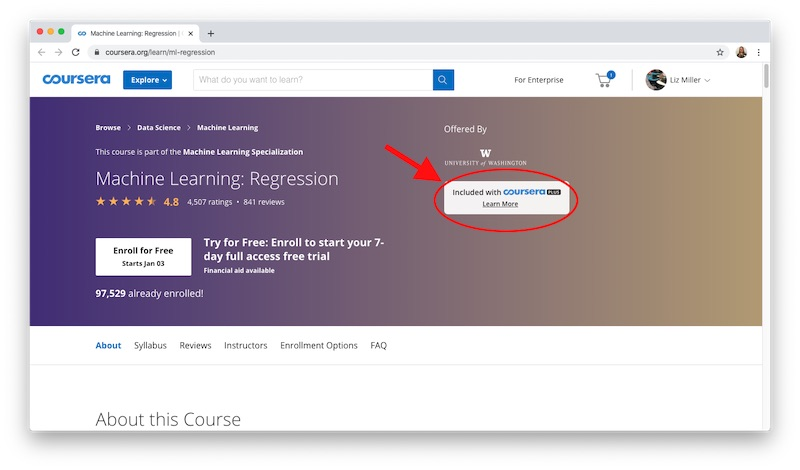 How to Access Coursera Plus in a Course