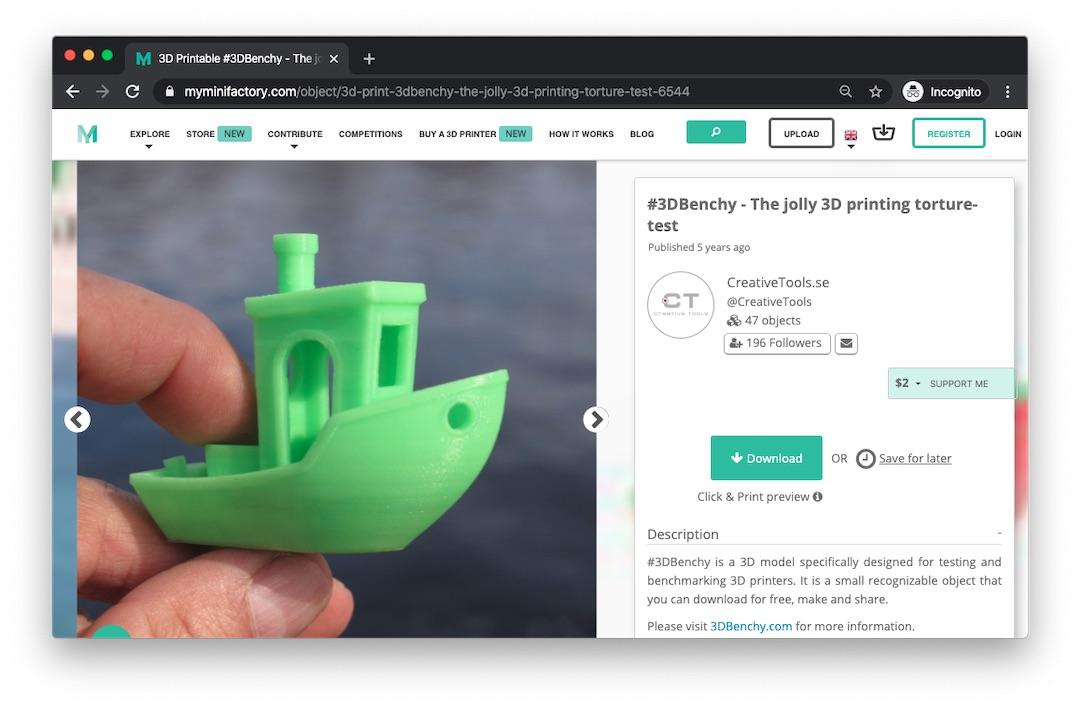 Free 3D printing files on MyMiniFactory