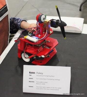 Pokey fire fighting robot example