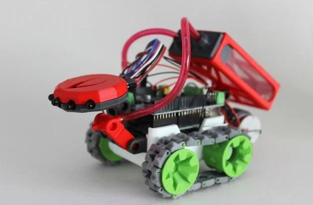 SMARS fire fighting robot attachment