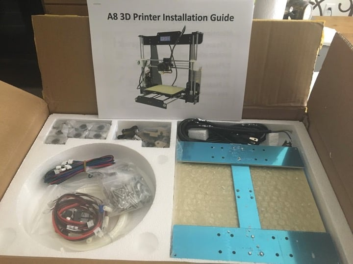Anet A8 assembly tools you need to build your 3D printer