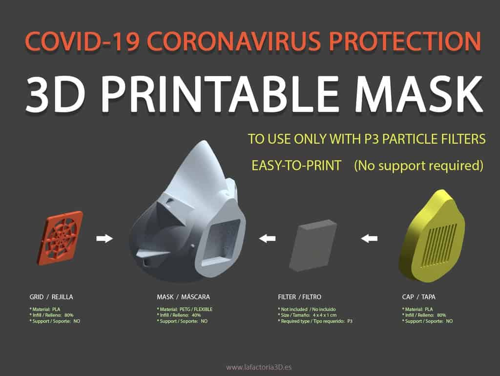 COVID-19 Mask for 3D printing