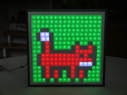 NeoPixel Animated Matrix project for LCD displays