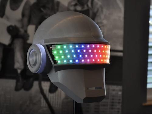Wearable NeoPixel Helmet DIY