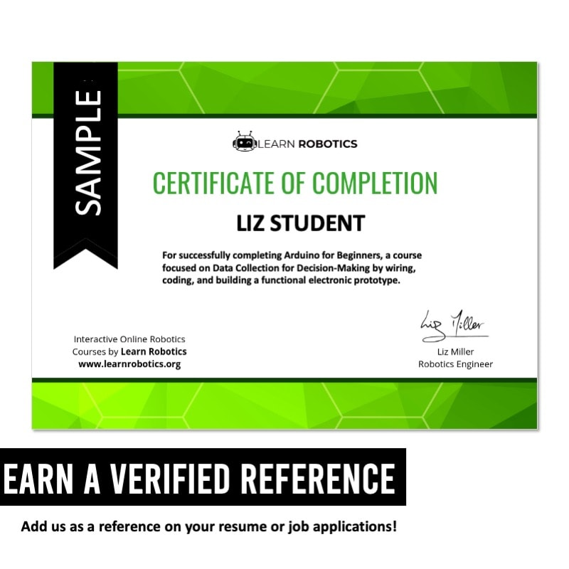Earn a verified reference in this online course
