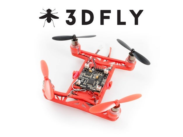 3D printed drone Thingiverse Hovership 3DFLY mini drone