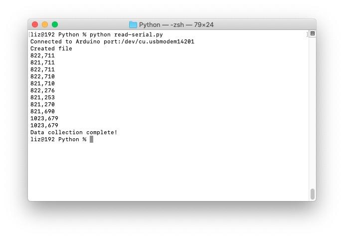Use Python to read Arduino Sensors and log to a CSV