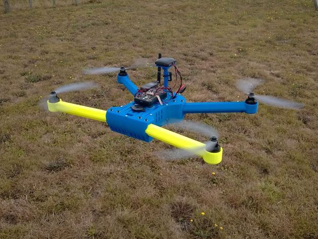 3D printed drones from Thingiverse DIY quadrotor with camera