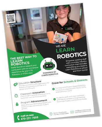 Remote Robotics Courses for High School, Middle School, or Pre-College Training