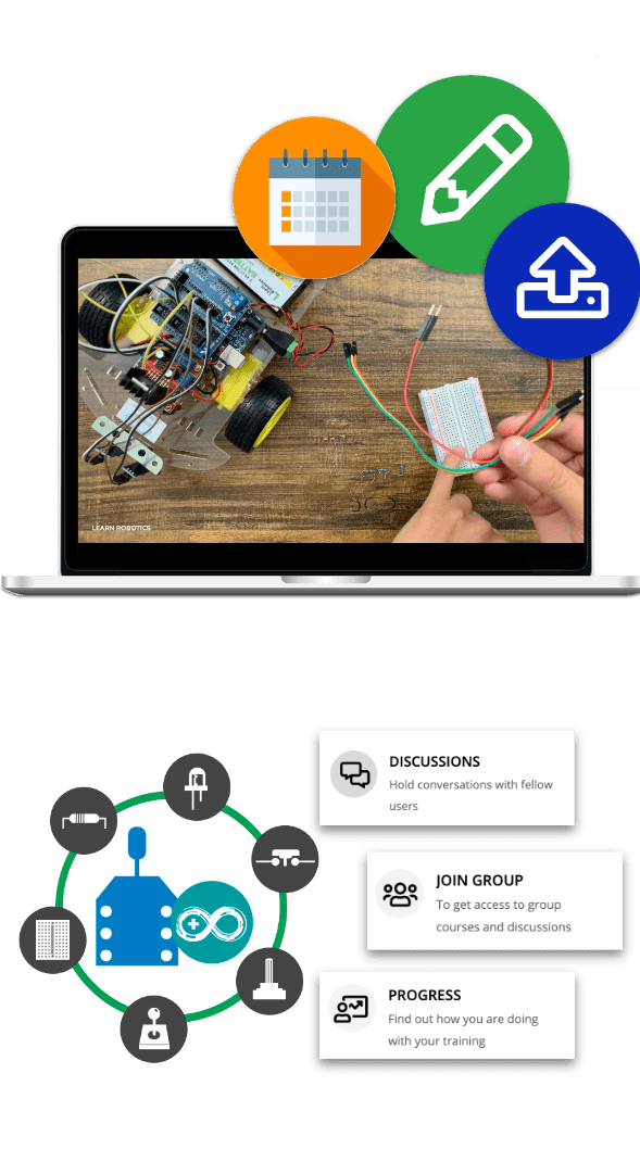 how to teach robotics with Learn Robotics Remote Learning