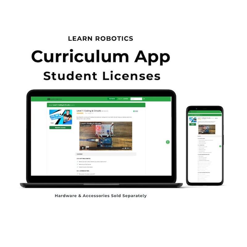 Learn Robotics Curriculum Licenses Digital App