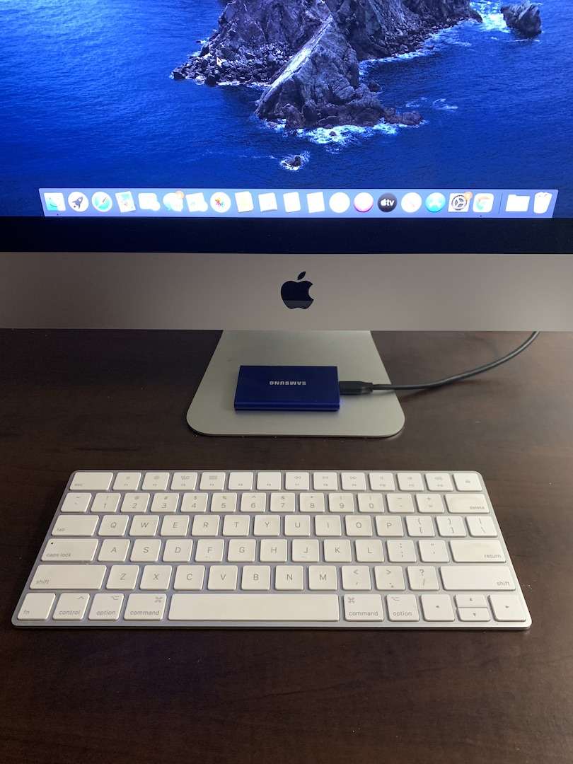 Add an external SSD as main boot disk iMac