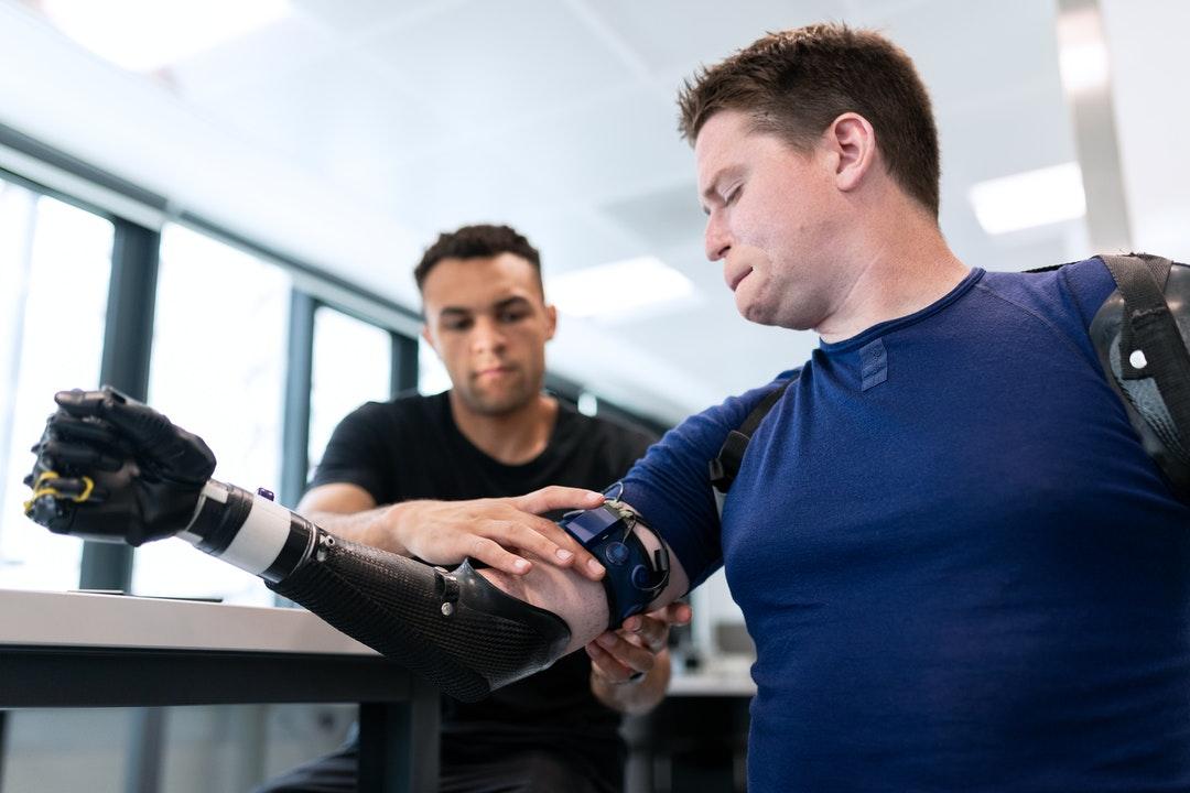 robot manipulation application in prosthetics