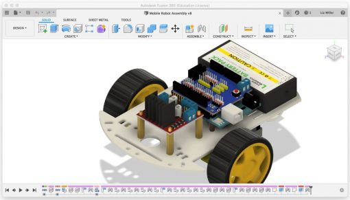 How to draw robots using CAD and Fusion 360 online course